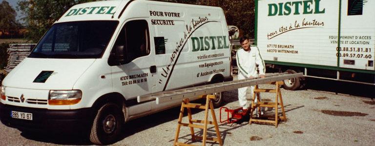 1994 : DISTEL devient « Vérificateur » d'escabeaux, échelles et échafaudages roulants