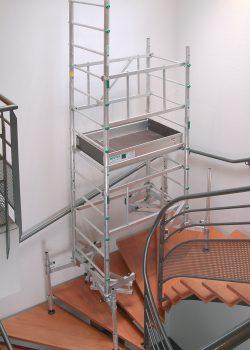 echafaudage escalier, echafaudage pour escalier, echafaudage pour escalier tournant