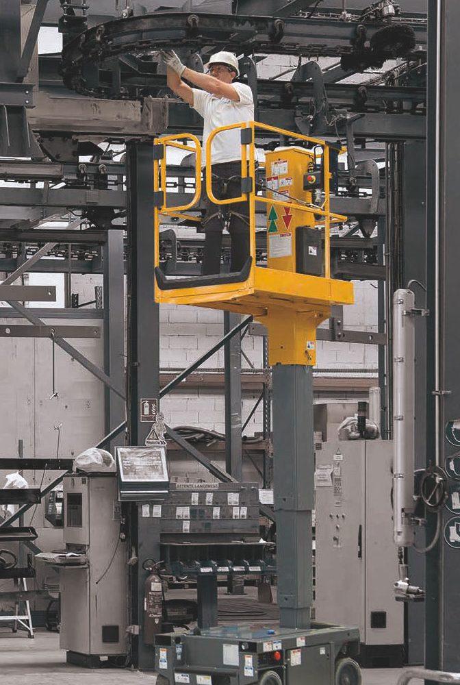 Nacelles à mât vertical électriques : Hibou 580E